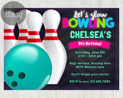 How To Make Invitation Cards At Home Instant Download Bowling Invitation Printable Bowling