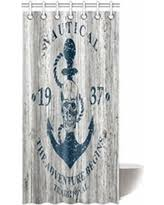 Nautical Anchor Shower Curtain Holiday Savings Ambesonne Nautical Anchor Rustic Wood Long Fabric