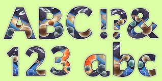 themed letters themed detailed images display lettering space letters