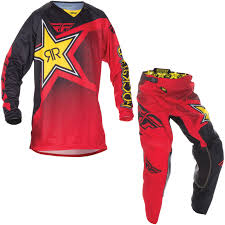 fly womens motocross gear fly racing 2017 kinetic rockstar motocross jersey u0026 pants red