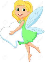 cute tooth fairy cartoon flying with tooth royalty free cliparts