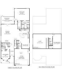 modren 2 story house floor plans with garage 3 bedroom bath french