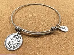 silver star charm bracelet images Sun moon stars charm bracelet br silver bangle sun moon star JPG