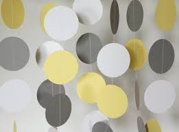 yellow and gray baby shower decorations yellow gray white garland yellow gray wedding decoration
