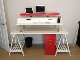 Stand Up Desk Ikea Hack by 3 Ways To Convert Any Desk Into A Standing Desk Cnet