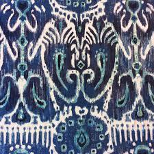 ikat indigo blue u0026 white ikat geo geometric modern cotton drapery