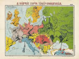 1914 World Map by Hungarian Caricature Map Of War 1914 1920 1446 Caricatures