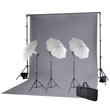 cheap umbrella lighting kit point photo video umbrella lighting kit w grey backdrop kit stand