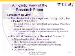 theoretical framework research paper research rescue lab a holistic view of the research paper dr