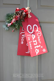 naughty or nice wooden door tags home made interest