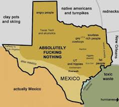 Funny Texas Memes - funny map of texas