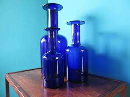 Cobalt Blue Vases Blue Vases By Otto Bauer For Kastrup Holmegaard Set Of 3 For Sale