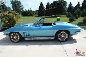 1966 corvette trophy blue corvette roadster 427 390 hp ncrs top flight certified