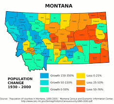 Map Of Montana State by Montana Population Change 1930 2000 By County Between U2026 Flickr