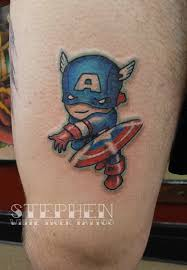 captain america tattoo by stephen lindsay white tiger tattoo