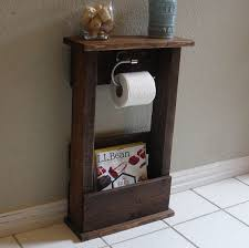did rustic free standing loo paper holder for bathroom ideas for