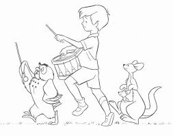winnie pooh coloring pages christopher robin playsational