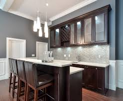 Shaker Style Interior Design by Contemporary Home Bar With Shaker Style Cabinets Vancouver