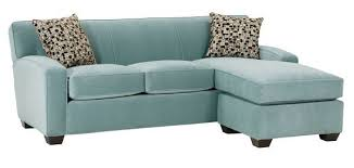 contemporary fabric sleep sofa with chaise option Apartment Sleeper Sofas