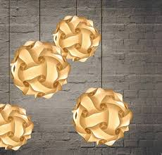 Diy Ball Chandelier Discount Diy Modern Ball Novelty Iq Jigsaw Lamp Puzzles White