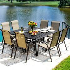 Patio Dining Set Clearance by Dining Tables Hexagon Patio Table Patio Furniture Costco 9 Piece