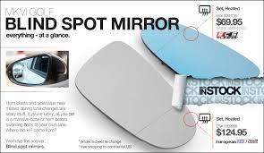 Where To Install Blind Spot Mirror Vwvortex Com Ecs Tuning Mkvi Golf Blind Spot Mirrors Now