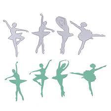 Embossing Templates Card Making - demiawaking 4pcs ballet dancer cutting dies stencil for diy stamp
