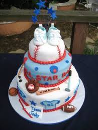 all baby shower sports themed baby shower cake baby and other decorations are