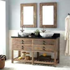 double sink vanity with middle tower double sink vanities signature hardware double sink vanity reclaimed