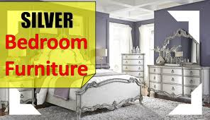 silver bed silver bedroom furniture youtube