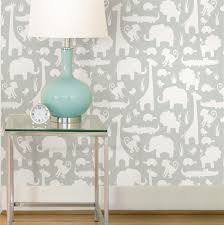 wallpops it u0027s a jungle in here grey peel u0026 stick wallpaper l