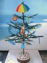 beach seashell christmas treewooden beach themed