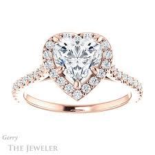heart shaped diamond engagement ring heart cut engagement ring setting gtj1153 heart r gerry the jeweler