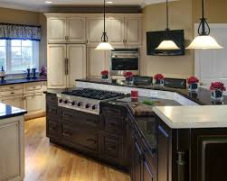 kitchen islands with stove center island kitchen custom wood kitchen island with granite