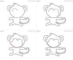 drawing a monkey step by step drawing tutorial how to draw a funny