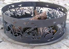 Large Fire Pit Ring by 35 Metal Fire Pit Designs And Outdoor Setting Ideas Fire Bowls
