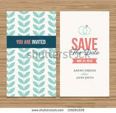 save the date designs wedding card invitation template editable pattern stock vector