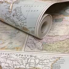 Vintage Map Wallpaper by Globetrotter World Map Wallpaper Holden 98271 Vintage Ebay