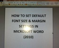 Normal Font Size For Resume How To Set Default Font Size U0026 Margin Settings Microsoft Word