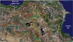 Caspian Sea World Map by The Babylonian World Map Against Jebel Al Lawz