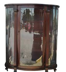 mahogany china cabinet furniture antique bow front mahogany curio cabinet 61 h