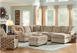 Furniture Stores Living Room Sets Brenton Court Platinum 3 Pc Sectional Living Room Living Room