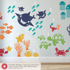happy shark family wall decals graphic spaces happy shark family wall decals