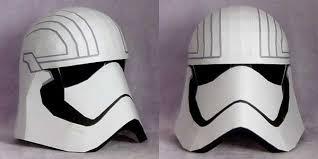 wars life size captain phasma helmet papercraft free template