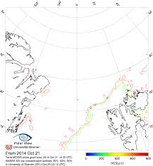 Isoline Map Definition Daily Combined Modis Amsr E Sea Ice Maps