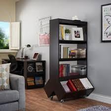 open bookcase room divider