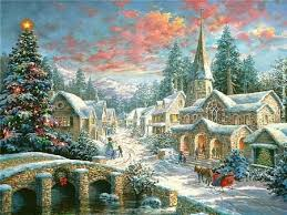 kinkade villages happy holidays for