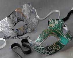 masquerade masks for couples couples masks etsy