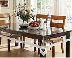 dining table cover clear kuber industries dining table cover transparent 6 seater amazon co