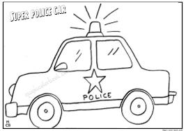 super police car coloring